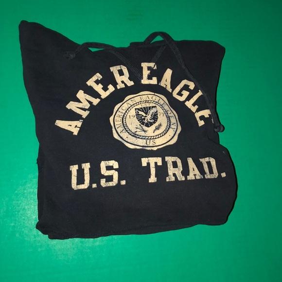 American Eagle Men's Navy Sweatshirt
